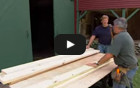 Build a trestle-and-slat picnic table and benches