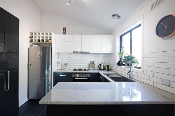 DIY How to Install a Subway Tile Backsplash  GNH Lumber Co  -> Kuchnia Na Poddaszu Na Wymiar