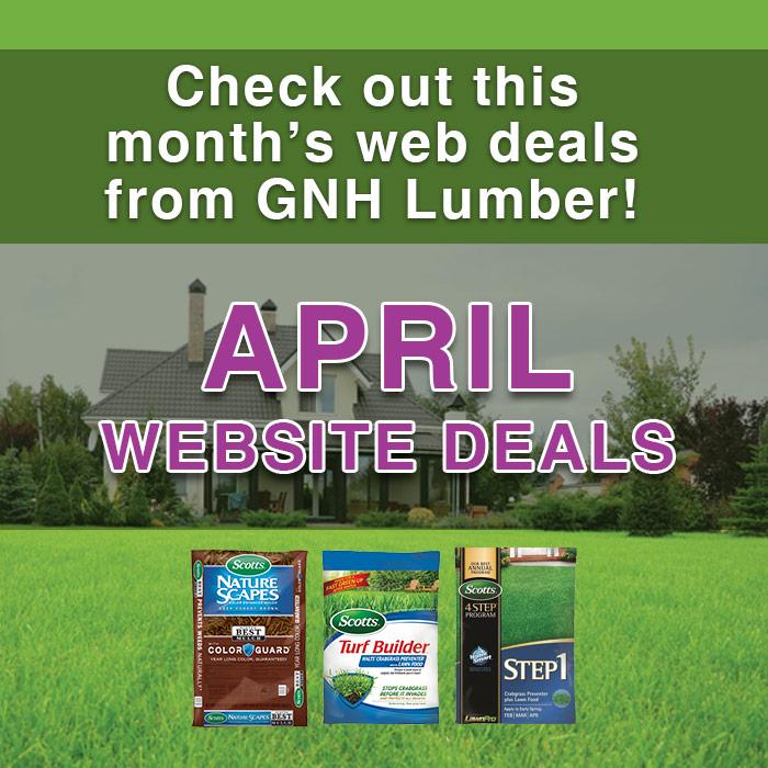 April web deals at GNH