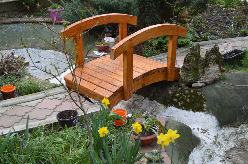What Could Be More Charming Than A Small Wooden Bridge To Accent A Water  Feature Or Help You Step Over Uneven Sloping In Your Garden?