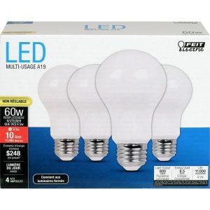 Feit 60W A19 Bulbs, Daylight