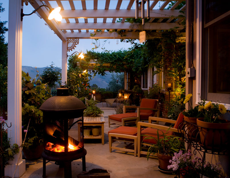 Cozy Deck Greenery for Fall
