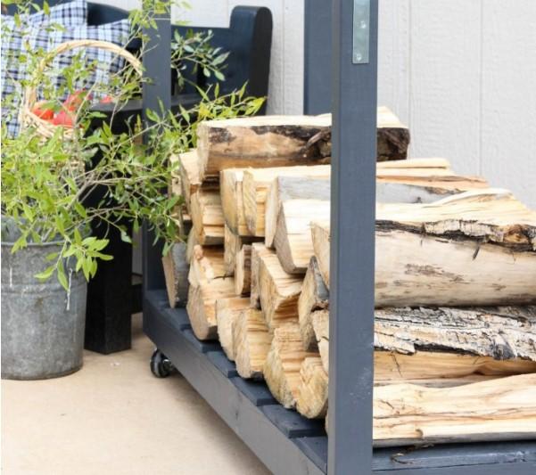 Rolling Firewood rack