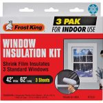 window insulation kit, 3pk