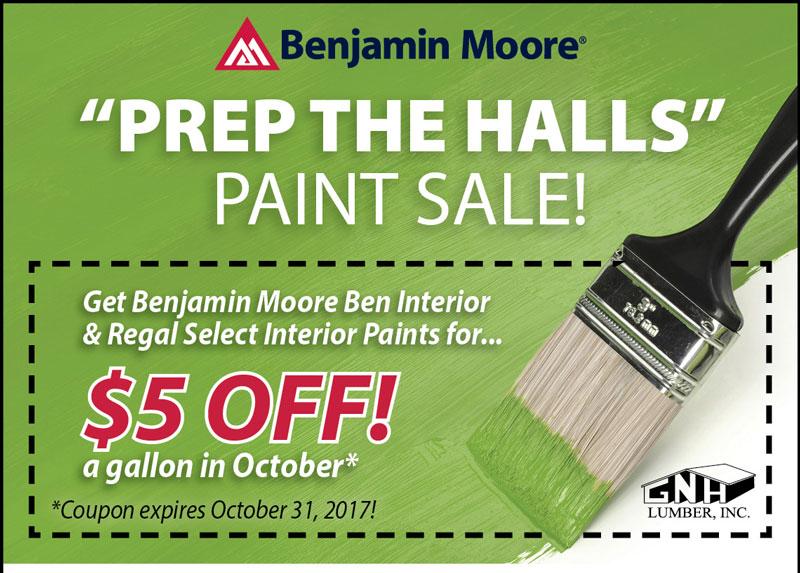 Ben Moore Interior Paint Sale