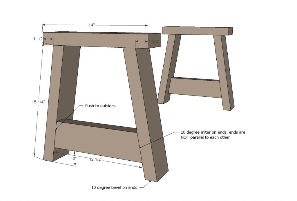Build Ends on Rustic bench