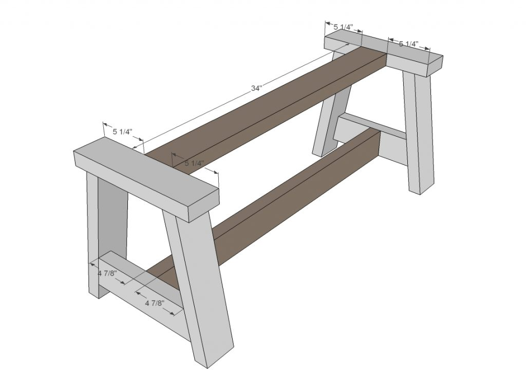 Rustic Bench cross supports