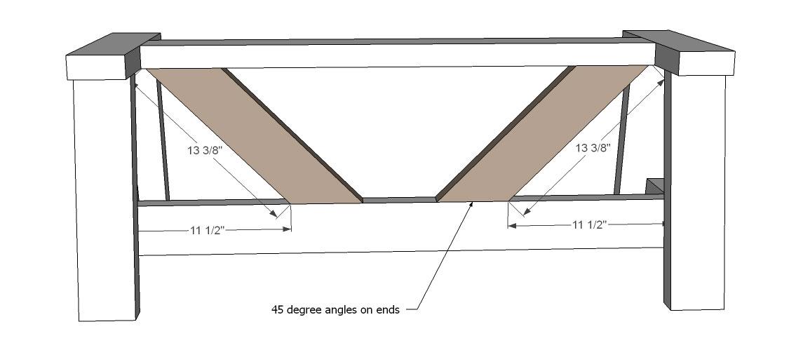 Rustic Bench stretchers