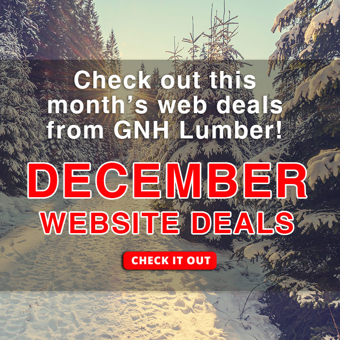 December Web Deals at GNH