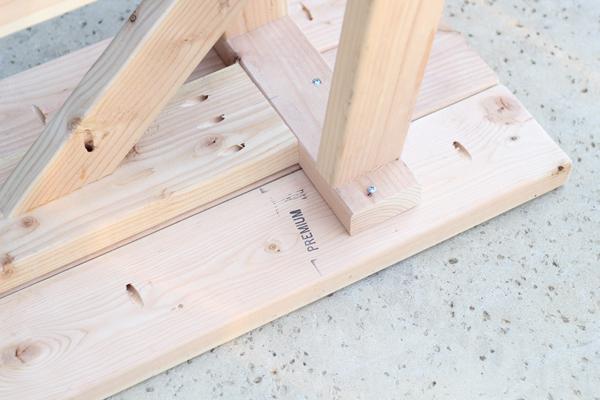 rustic bench bottom