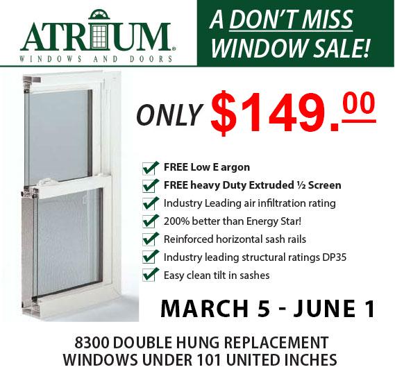 atrium windows sale