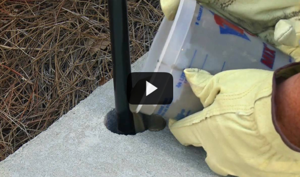 Watch video: Anchoring Handrails & Bolts in Concrete