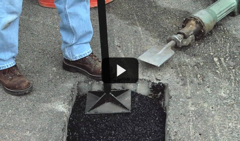 Watch video: Permanent Repairs to Asphalt Potholes