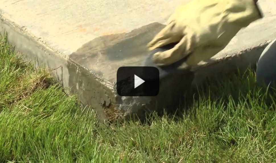 Watch video: Repairing Concrete Edges & Corners