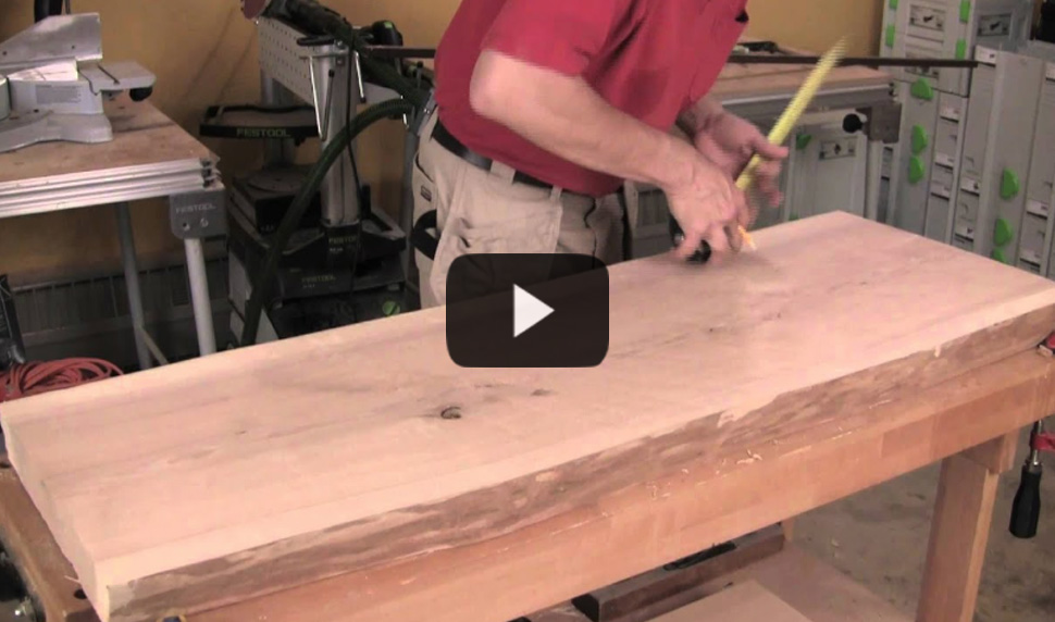 Watch video: Build a Slab-Topped Sofa Table