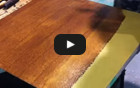 Watch video: Wood Grain Finishing Technique
