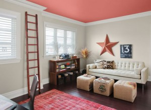 Read the article: Transform Any Room with A Painted Ceiling