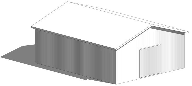 32 X 40 Pole Barn Gnh Lumber Co