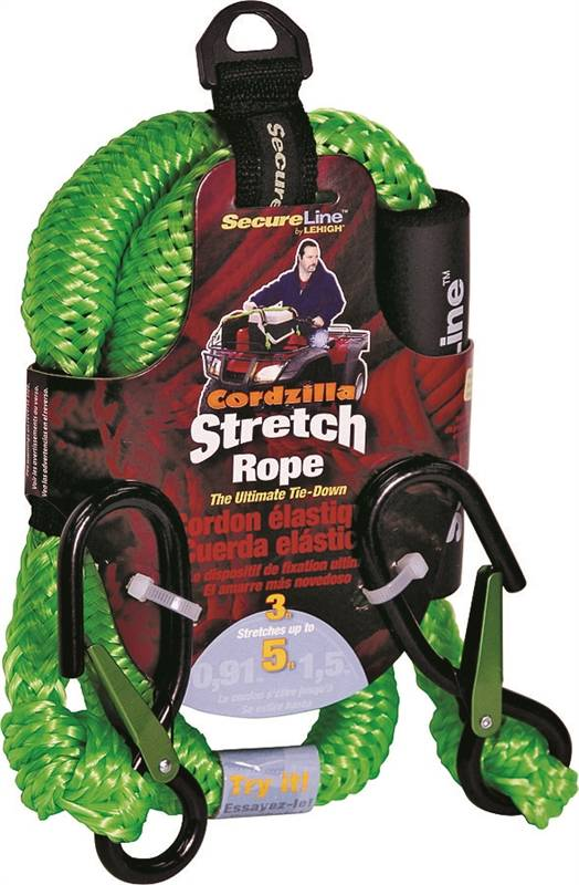 Cordzilla Stretch Rope, 3FT Green