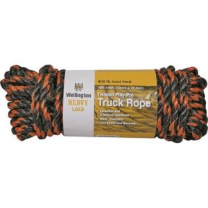 Twisted truck rope