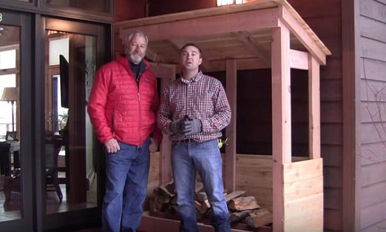 Watch video: Build Firewood Rack with Roof