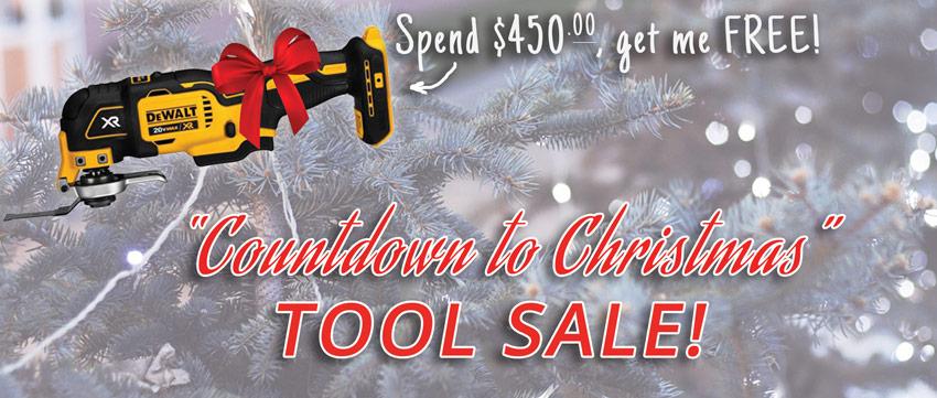 DeWalt Holiday Tool Sale