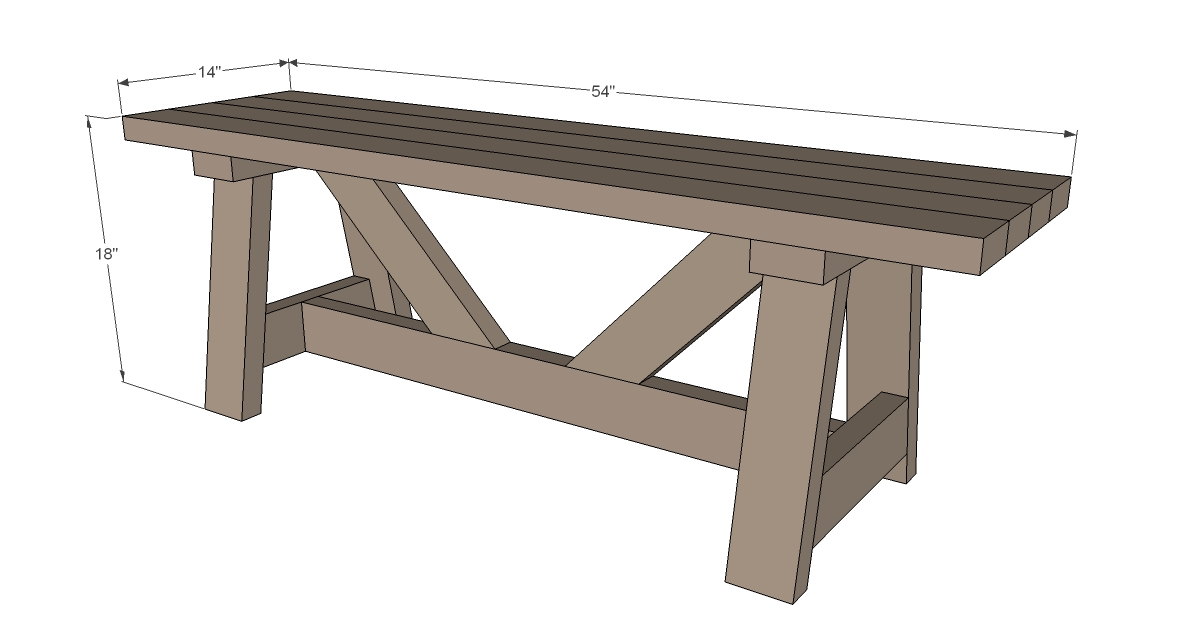Rustic Bench dimensions