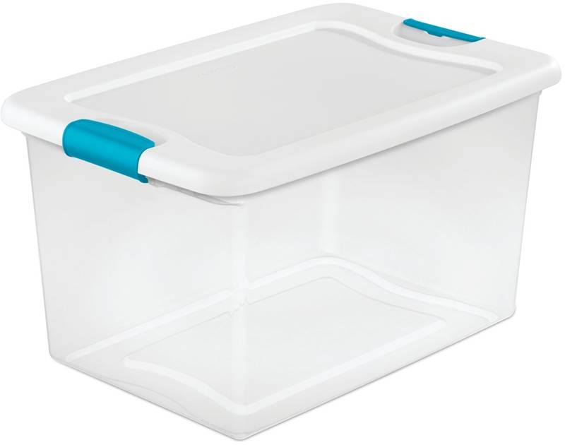 storage tote, clear