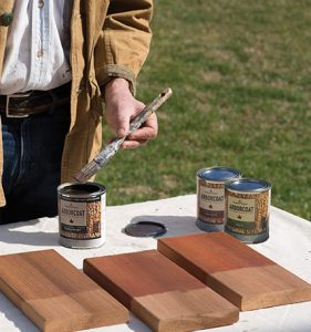 Choosing the Right Deck Stain - Test Stains