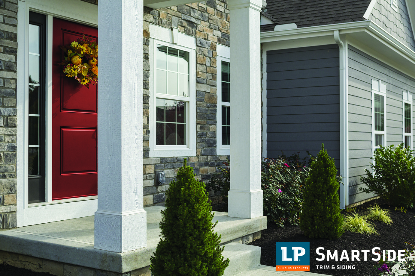 accents for neutral trim and siding