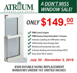 atrium window sale