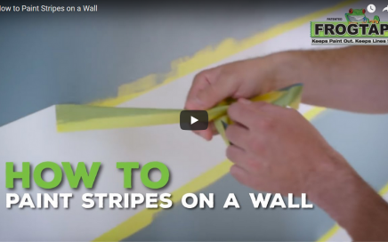 How to Paint Stripes on an Accent Wall