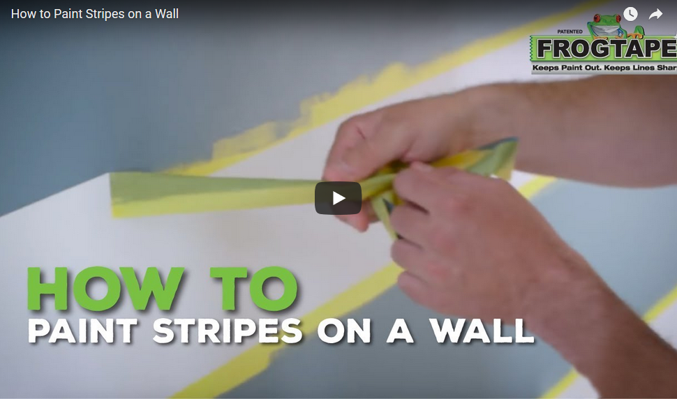Watch video: How to Paint Stripes on a Wall