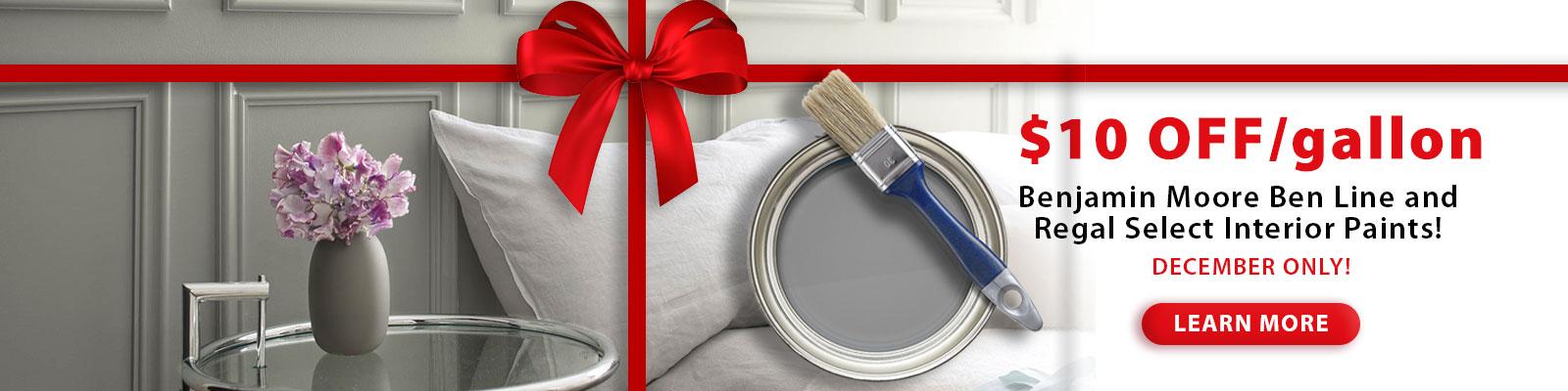 December Interior Paint Sale