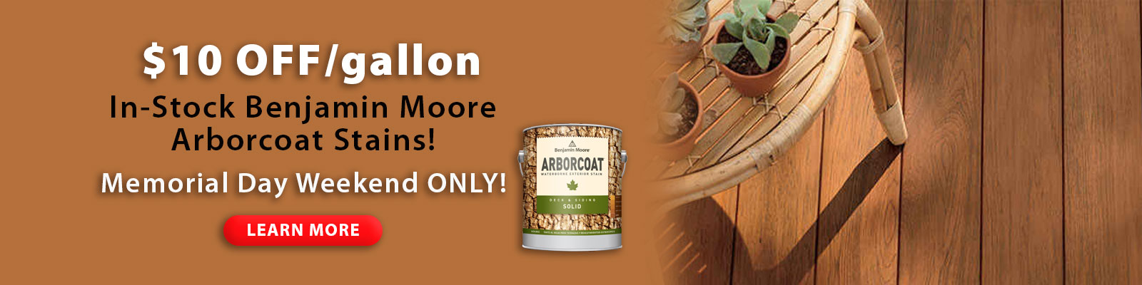 May Arborcoat Stain Sale