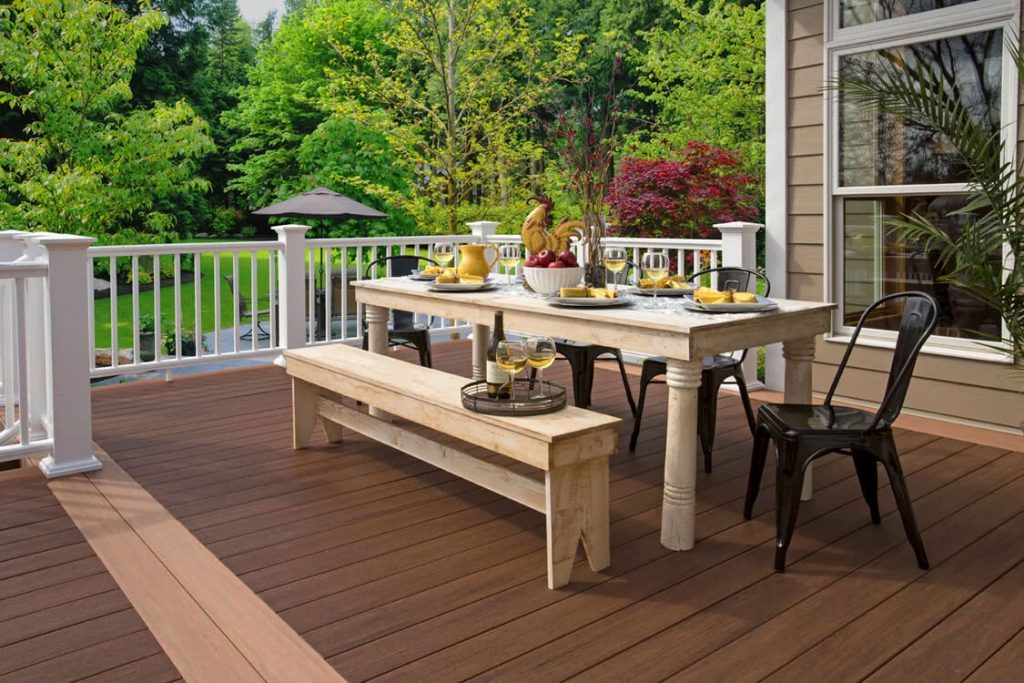 Cozy Outdoor Dining Spaces - Rustic Table