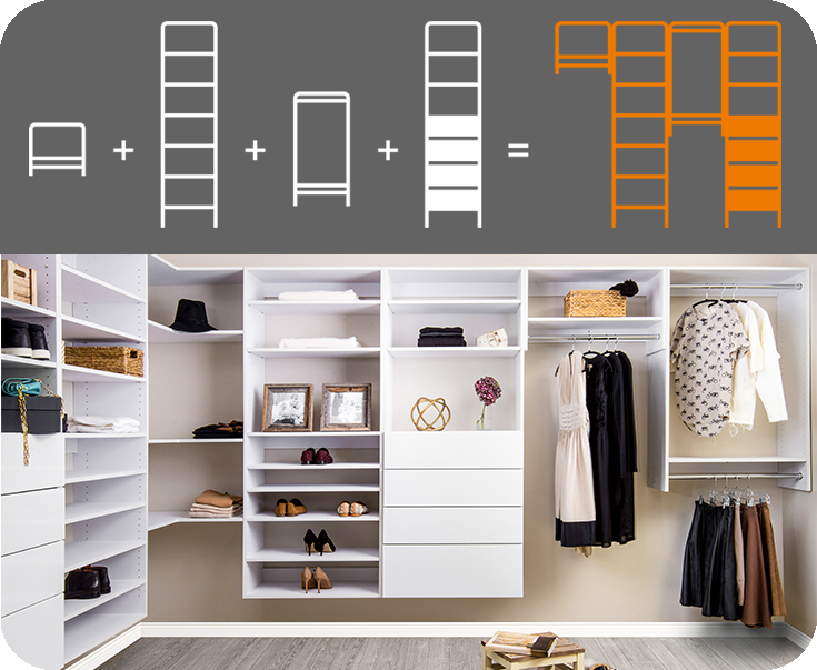 Custom Modular Closets at GNH