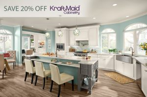 20% OFF KraftMaid Cabinetry orders - limited time!