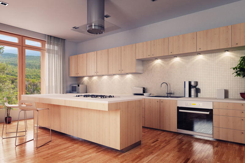 3D rendering of kitchen design