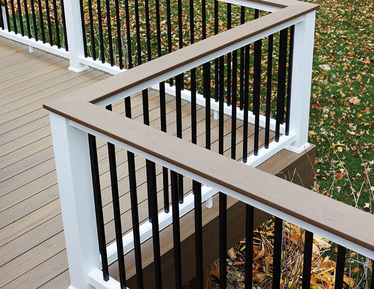 Deck Designs - Wide Railings