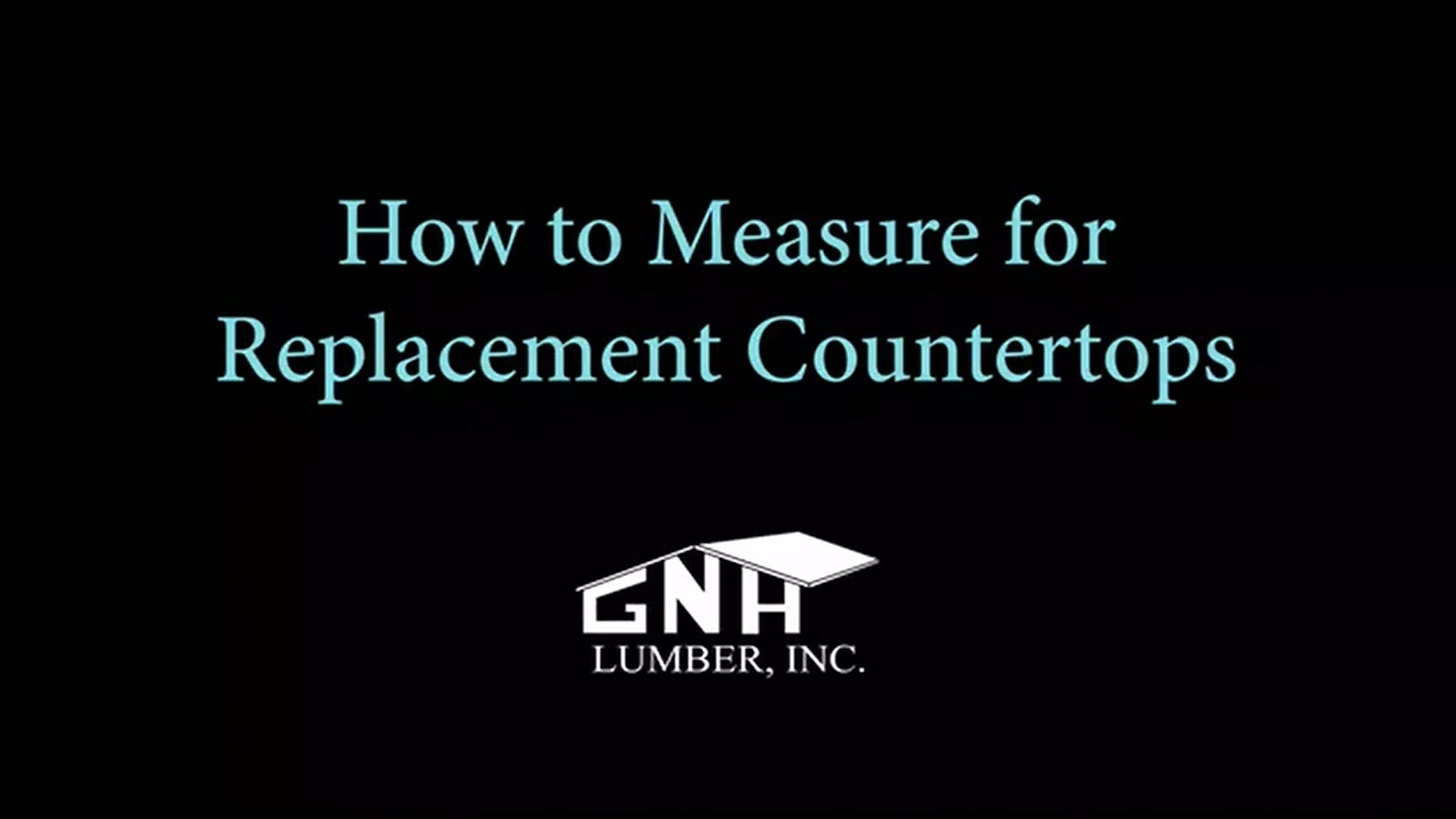 Watch video: How to Measure for Replacement Countertops