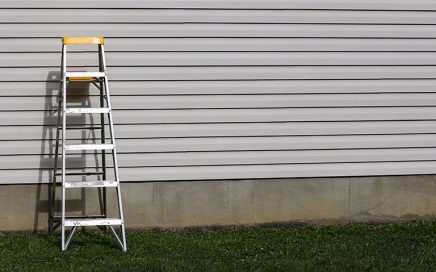 Outdoor Siding with Ladder